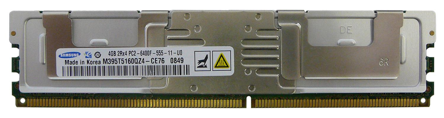 M4L Certified 4GB 800MHz DDR2 PC2-6400 Fully Buffered ECC CL5 240-Pin Dual Rank x4 DIMM Mfr P/N M4L-PC2800D2D4F5-4G