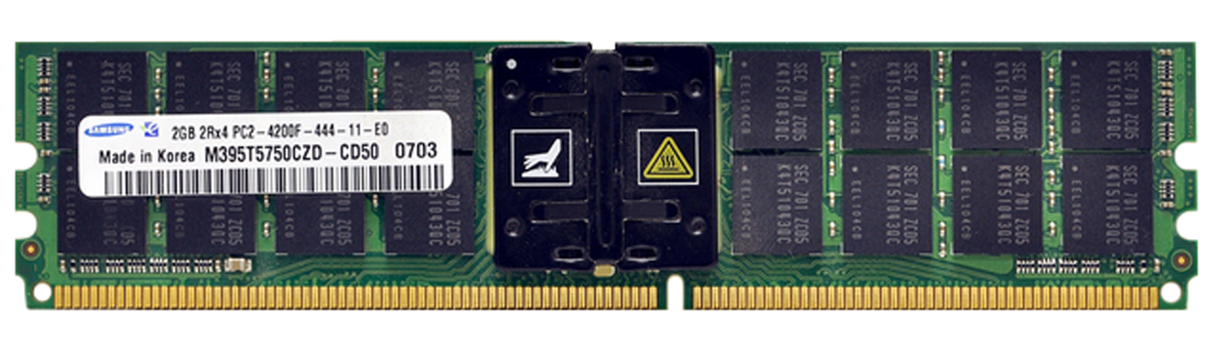 M4L Certified 2GB 533MHz DDR2 PC2-4200 Fully Buffered ECC CL4 240-Pin Dual Rank x4 DIMM Mfr P/N M4L-PC2533D2D4F4-2G