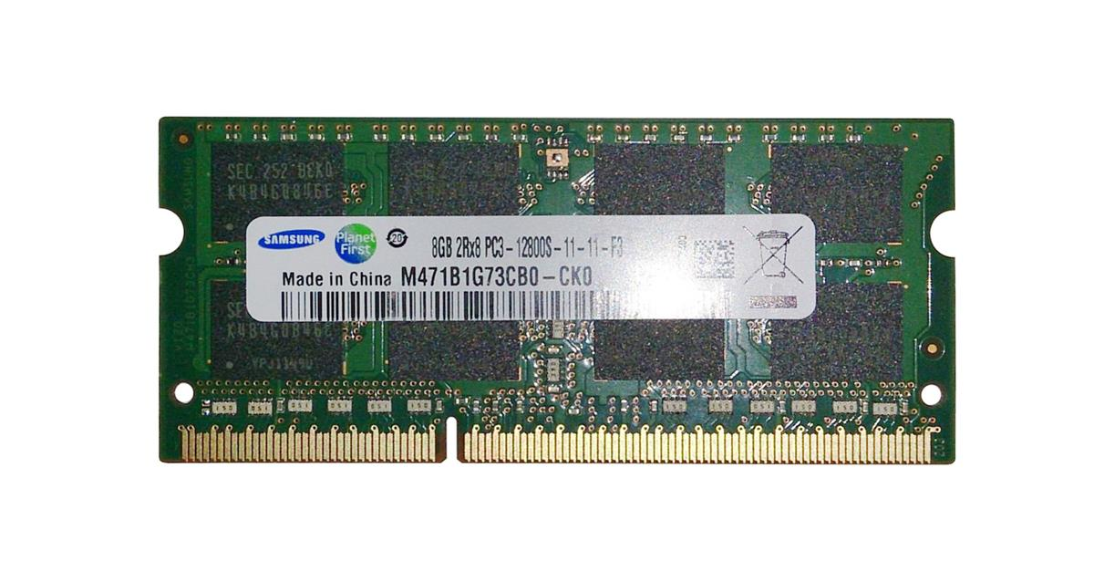 M471B1G73CB0-CK0 Samsung 8GB PC3-12800 DDR3-1600MHz non-ECC Unbuffered CL11 204-Pin SoDimm Dual Rank Memory Module