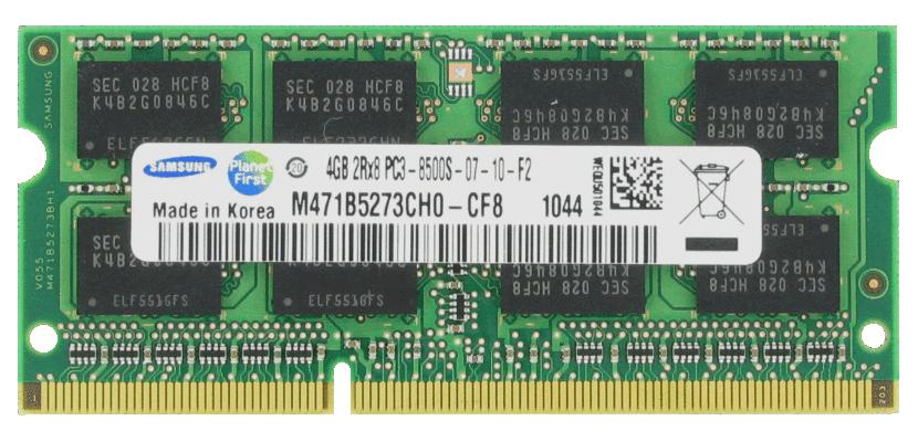 4GB Module DDR3 SoDimm 204-Pin PC3-8500 CL=7 non-ECC Unbuffered DDR3-1066 512Meg x 64 for Lenovo ThinkPad W520 4276-2QU Mfr P/N 51J0494; 55Y3708; OEM FRU 51J0493; OEM FRU 55Y3714