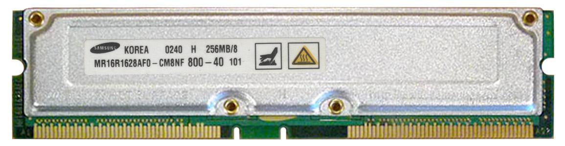Samsung Rambus 256MB PC800 800MHz 40ns non-ECC 184-Pin RDRAM RIMM Memory Module Mfr P/N MR16R1628AFO-CM8