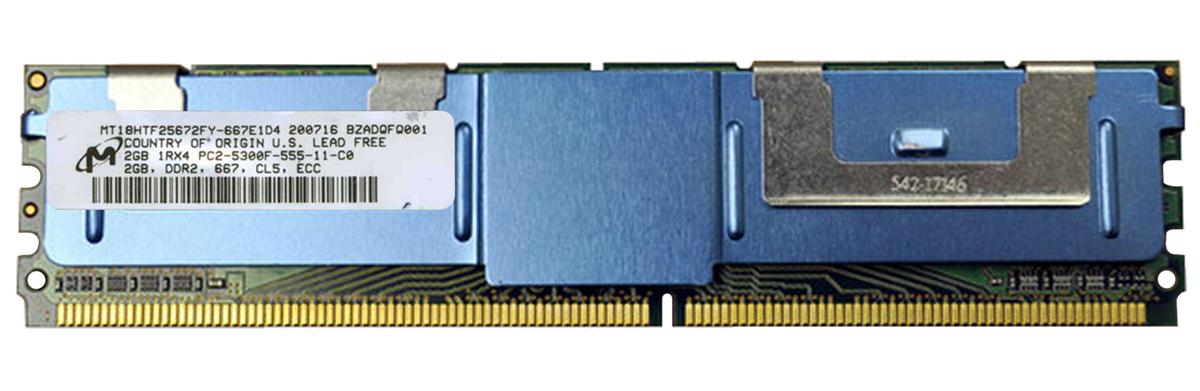 M4L Certified 2GB 667MHz DDR2 PC2-5300 Fully Buffered ECC CL5 240-Pin Single Rank x4 DIMM Mfr P/N M4L-PC2667ED2S4F5D-2G