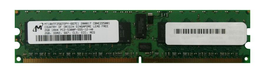 M4L Certified 2GB 667MHz DDR2 PC2-5300 Reg ECC CL5 240-Pin Single Rank x4 DIMM Mfr P/N M4L-PC2667D2S4P5-2G