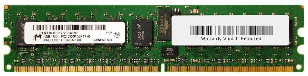 M4L Certified 4GB 667MHz DDR2 PC2-5300 Reg ECC CL5 240-Pin Single Rank x4 DIMM Mfr P/N M4L-PC2667RD2S45D-4G