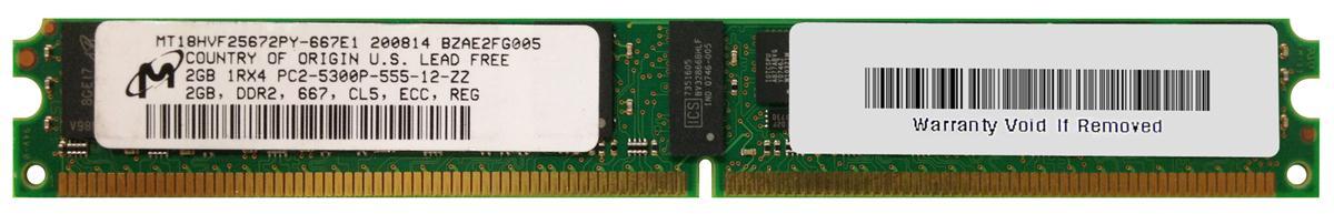 M4L Certified 2GB 667MHz DDR2 PC2-5300 Reg ECC CL5 240-Pin Single Rank x4 VLP DIMM Mfr P/N M4L-PC2667RD2S45DV-2G