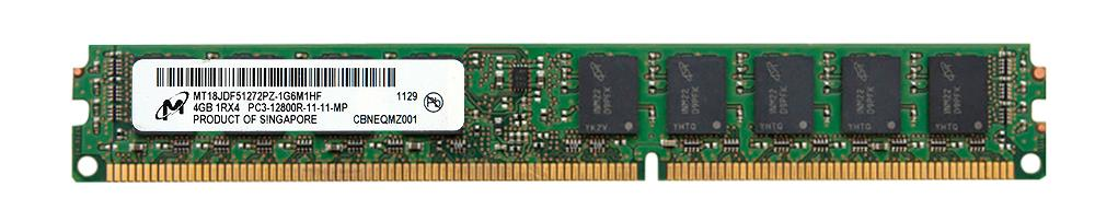 M4L Certified 4GB 1600MHz DDR3 PC3-12800 Reg ECC CL11 240-Pin Single Rank x4 VLP DIMM Mfr P/N M4L-PC31600RD3S411DV-4G