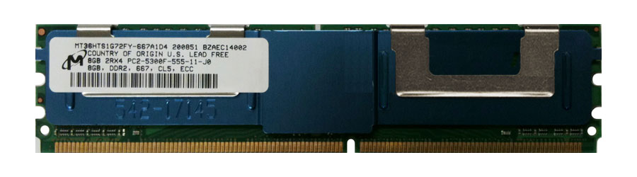 M4L Certified 8GB 667MHz DDR2 PC2-5300 Fully Buffered ECC CL5 240-Pin Dual Rank x4 DIMM Mfr P/N M4L-PC2667D2D4F5-8G