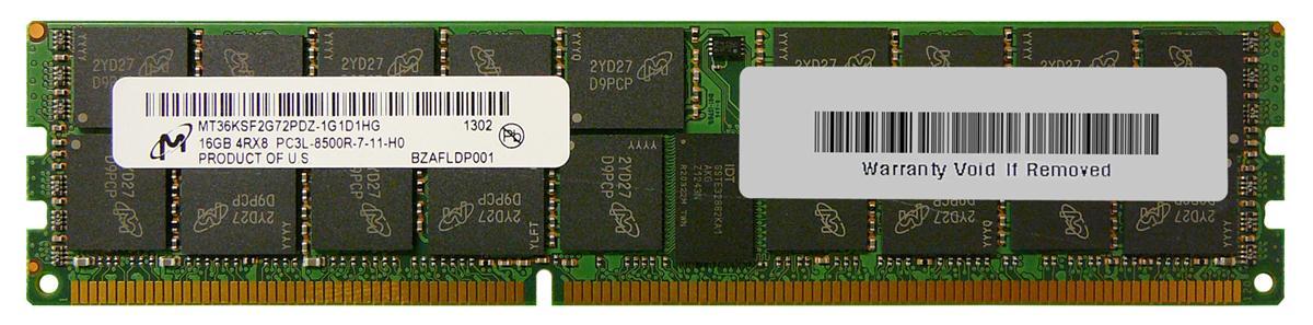 M4L Certified 16GB 1066MHz DDR3 PC3-8500 Reg ECC CL7 240-Pin Quad Rank x8 1.35V Low Voltage DIMM Mfr P/N M4L-PC31066RD3Q87DL-16G