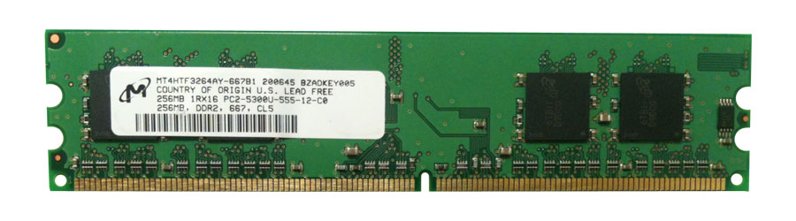 M4L Certified 256MB 533MHz DDR2 PC2-4200 Non-ECC CL4 240-Pin Single Rank x16 DIMM Mfr P/N M4L-PC2533D2N4-256