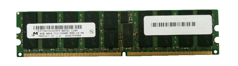 M4L-PC2667RD2Q45D-8G M4L Certified 8GB 667MHz DDR2 PC2-5300 Reg ECC CL5 240-Pin Quad Rank x4 DIMM