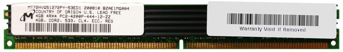 M4L Certified 4GB 533MHz DDR2 PC2-4200 Reg ECC CL4 240-Pin Quad Rank x4 VLP DIMM Mfr P/N M4L-PC2533RD2Q44DV-4G