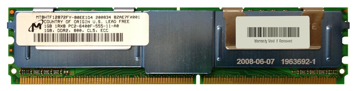 M4L Certified 1GB 800MHz DDR2 PC2-6400 Fully Buffered ECC CL5 240-Pin Single Rank x8 DIMM Mfr P/N M4L-PC2800ED2S85FD-1G