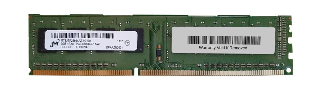 M4L Certified 2GB 1066MHz DDR3 PC3-8500 Non-ECC CL7 240-Pin Single Rank x8 DIMM Mfr P/N M4L-PC31066D3S8N7-2G
