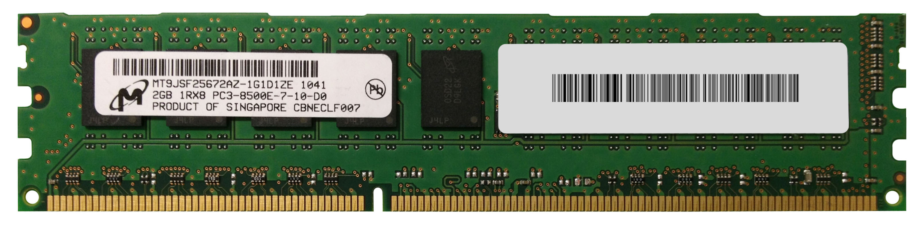M4L Certified 2GB 1066MHz DDR3 PC3-8500 ECC CL7 240-Pin Single Rank x8 DIMM Mfr P/N M4L-PC31066D3S8E7S-2G