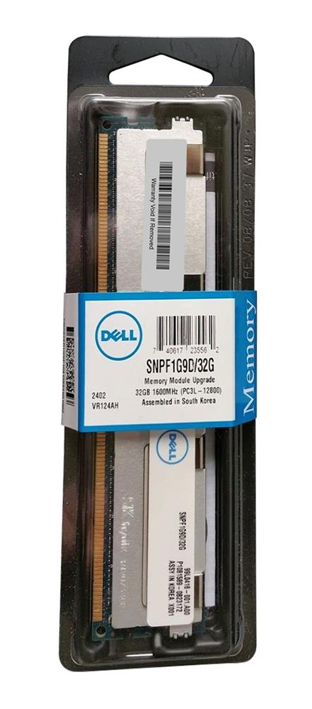 SNPF1G9D/32G Dell 32GB PC3-12800 DDR3-1600MHz ECC Registered CL11 240-Pin Load Reduced DIMM 1.35V Low Voltage Quad Rank Memory Module