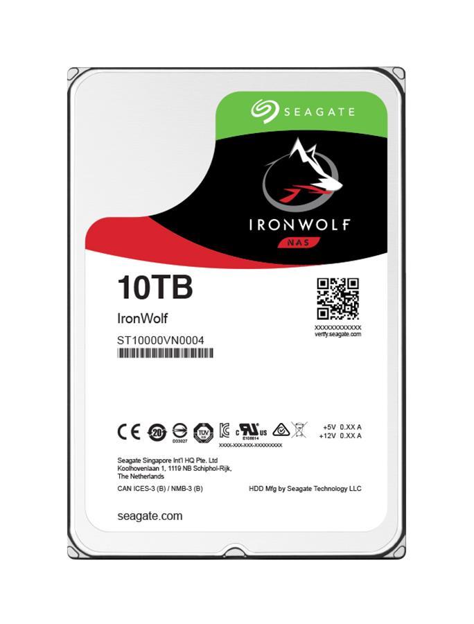Seagate IronWolf 10TB 7200RPM SATA 6Gbps 256MB Cache 3.5-inch Internal Hard Drive Mfr P/N ST10000VN0004