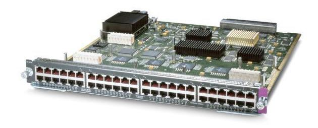 Cisco 48-Ports 10/100Mbps Fast Ethernet Module for Catalyst 6500 (Refurbished) Mfr P/N WS-X6148-RJ-45