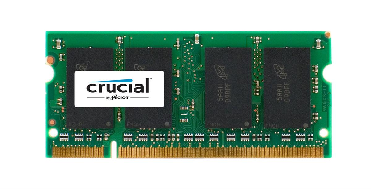 CT758757 Crucial 2GB PC2-6400 DDR2-800MHz non-ECC Unbuffered CL6 200-Pin SoDimm Memory Module