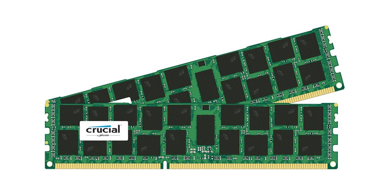 CT3256720 Crucial 64GB Kit (2 X 32GB) PC3-10600 DDR3-1333MHz ECC Registered CL9 240-Pin DIMM 1.35V Low Voltage Quad Rank Memory for HP ProLiant DL380 G7 Server