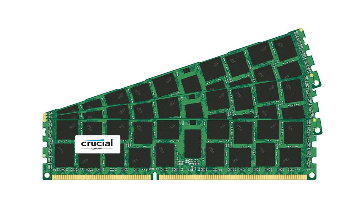 CT3256722 Crucial 96GB Kit (3 X 32GB) PC3-10600 DDR3-1333MHz ECC Registered CL9 240-Pin DIMM 1.35V Low Voltage Quad Rank Memory for HP ProLiant DL380 G7 Server
