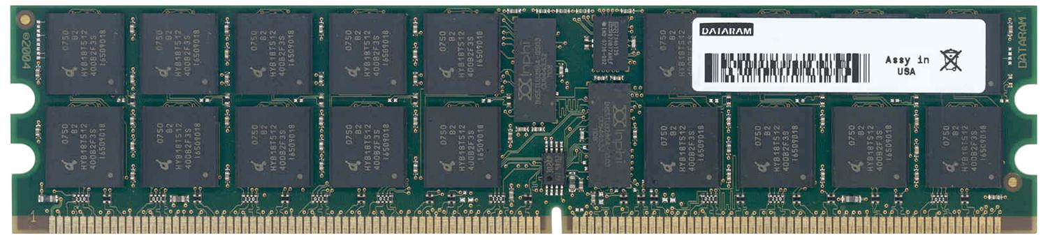 Dataram 4GB Kit (2 X 2GB) PC2-5300 DDR2-667MHz ECC Registered CL5 240-Pin DIMM Single Rank Memory Mfr P/N DRSX4600M2S/4GB