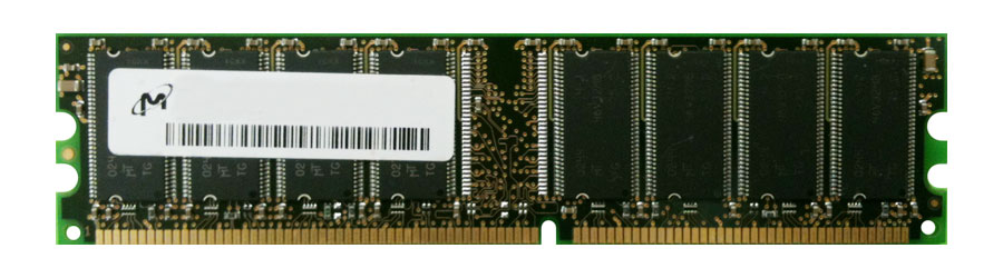 MT16VDDT6464AG-40 Micron 512MB PC3200 DDR-400MHz non-ECC Unbuffered CL3 184-Pin DIMM Dual Rank Memory Module