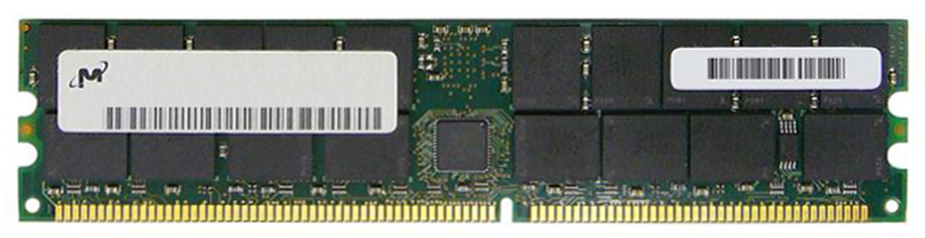 MT36VDDT51272G-40BA2 Micron 4GB PC3200 DDR-400MHz ECC Registered CL3 184-Pin DIMM Memory Module