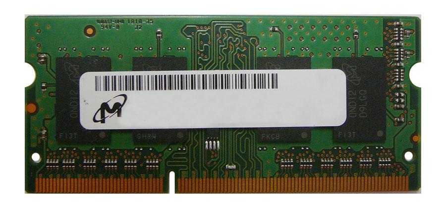Micron 1GB PC3-10600 DDR3-1333MHz non-ECC Unbuffered CL9 204-Pin SoDimm Memory Module Mfr P/N MT8JTF12864HDZ-1G4G1
