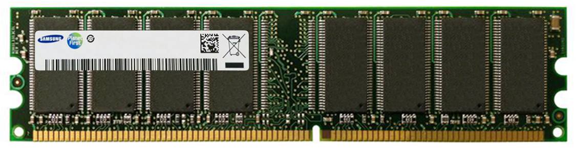 M368L6423DTL Samsung 512MB PC2100 DDR-266MHz non-ECC Unbuffered CL2.5 184-Pin DIMM Memory Module