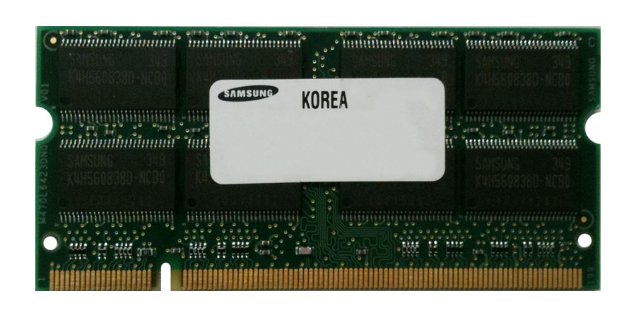 Samsung 512MB PC2700 DDR-333MHz non-ECC Unbuffered CL2.5 200-Pin SoDimm Memory Module Mfr P/N PC2700S-25331-AO