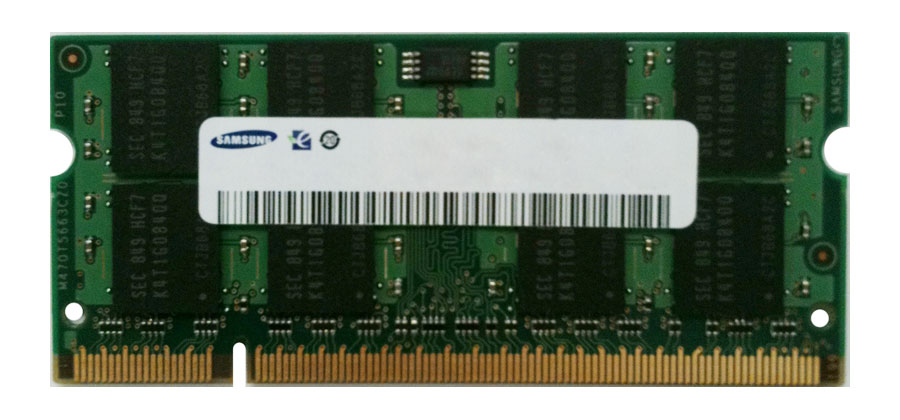M470T5267AH3-CF7 Samsung 4GB PC2-6400 DDR2-800MHz non-ECC Unbuffered CL6 200-Pin SoDimm Dual Rank Memory Module
