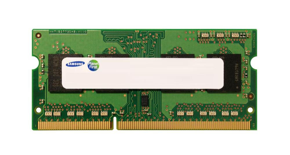 Samsung 8GB PC3-10600 DDR3-1333MHz non-ECC Unbuffered CL9 204-Pin SoDimm 1.35V Low Voltage Dual Rank Memory Module Mfr P/N M471B1G73AH0-YH9