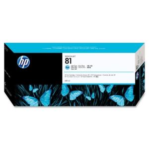 HP 81 Cyan Ink Cartridge Light Cyan InkJet 1 Each (Refurbished) Mfr P/N C4934A