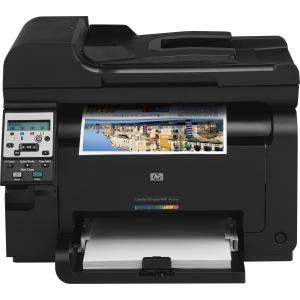HP Color LaserJet Pro 100 M175NW Laser Multifunction Printer Color Plain Paper Print Desktop Printer , Copier, Scanner 16 ppm Mono/4 ppm Color Print 600 x 600 dpi Print 16 cpm Mono/4 cpm Color Copy LCD 1200 dpi Optical Scan Manual Duplex Print 150 sheets Input Fast Ethernet Wi-Fi USB (Refurbished) Mfr P/N CE866A