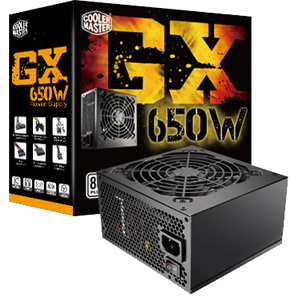 RS650-ACAAE3-US-A1 Cooler Master Gx 650-Watts ATX12V 80 Plus Power Supply