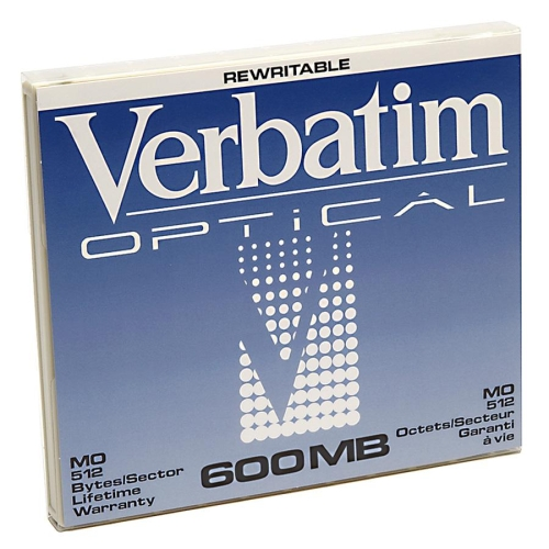 Verbatim 600MB 1x Rewritable 5.25-inch Magneto Optical Media Mfr P/N 87895