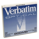 Verbatim 600MB 1x Rewritable 5.25-inch Magneto Optical Media Mfr P/N 87895