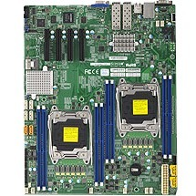MBD-X10DRD-ITP-B Supermicro X10DRD-iTP Server Motherboard Intel Chipset Socket LGA 2011-v3 Bulk Pack Extended ATX 2 x Processor Support 512GB DDR4 SDRAM Maximum RAM 2.13 GHz, 1.87 GHz, 1.60 GHz Memory Speed Supported RDIMM, DIMM, LRDIMM 8 x Memory Slots Serial ATA/600 RAID Supported Controller 0, 1, 5, 10 RAID Levels On-board Video Chipset ASPEED AST2400 10Gigabit Ethernet 4 x PCI Express x8 Slots 4 x USB Ports VGA 10 x SATA Interfaces (Refurbished)