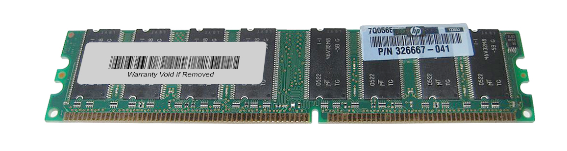 HP 256MB PC3200 DDR-400MHz non-ECC Unbuffered CL3 184-Pin DIMM Memory Module Mfr P/N 326667-041