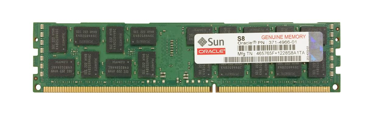 371-4966 Sun 8GB PC3-10600 DDR3-1333MHz ECC Registered CL9 240-Pin DIMM 1.35V Low Voltage Dual Rank Memory Module