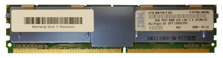 IBM Chipkill 8GB Kit (2 X 4GB) PC2-5300 DDR2-667MHz ECC Fully Buffered CL5 240-Pin DIMM Memory Mfr P/N 39M5797