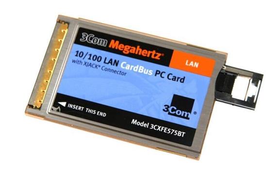 3Com Megahertz 10/100 PC Card Adapter PC Card 1 x XJACK 10/100Base-TX Internal Mfr P/N 3CXFE575BT