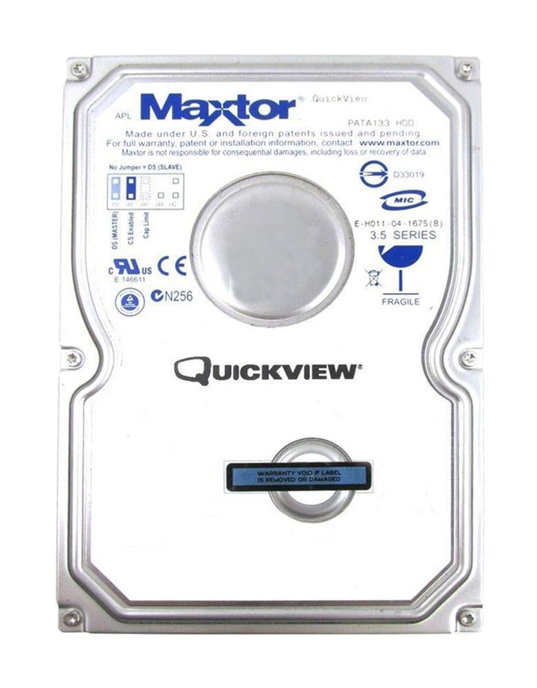 3H400R0 Maxtor QuickView 500 400GB 7200RPM ATA-133 16MB Cache 3.5-inch Internal Hard Drive