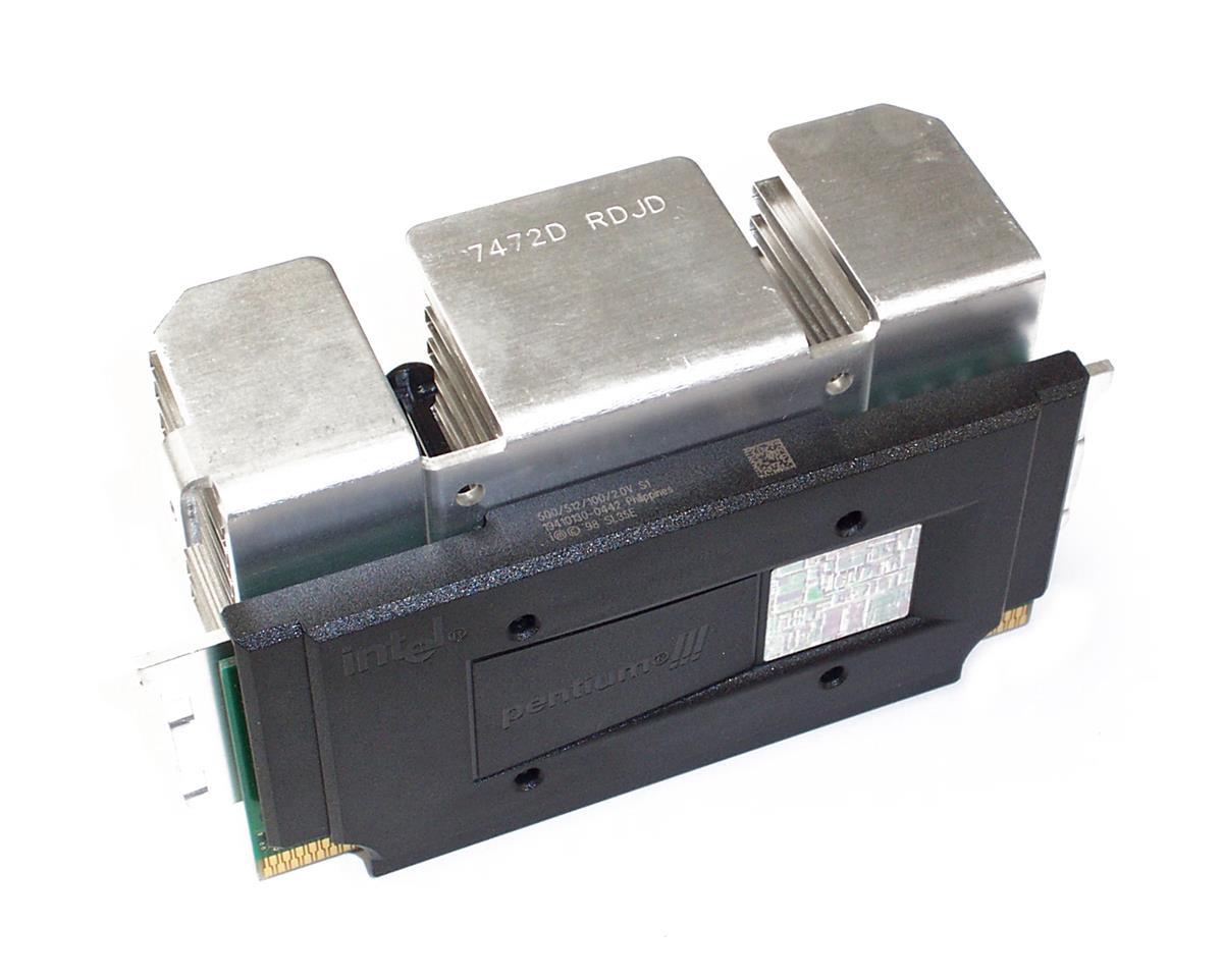 Compaq 500MHz 100MHz FSB 512KB L2 Cache Socket Slot-1 Intel Pentium III Processor Upgrade Mfr P/N 401268-B21