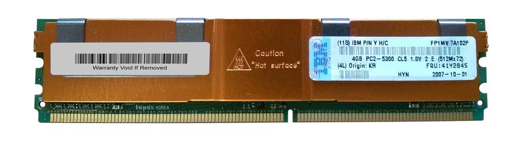IBM Chipkill 4GB PC2-5300 DDR2-667MHz ECC Fully Buffered CL5 240-Pin DIMM Memory Module Mfr P/N 41Y2845