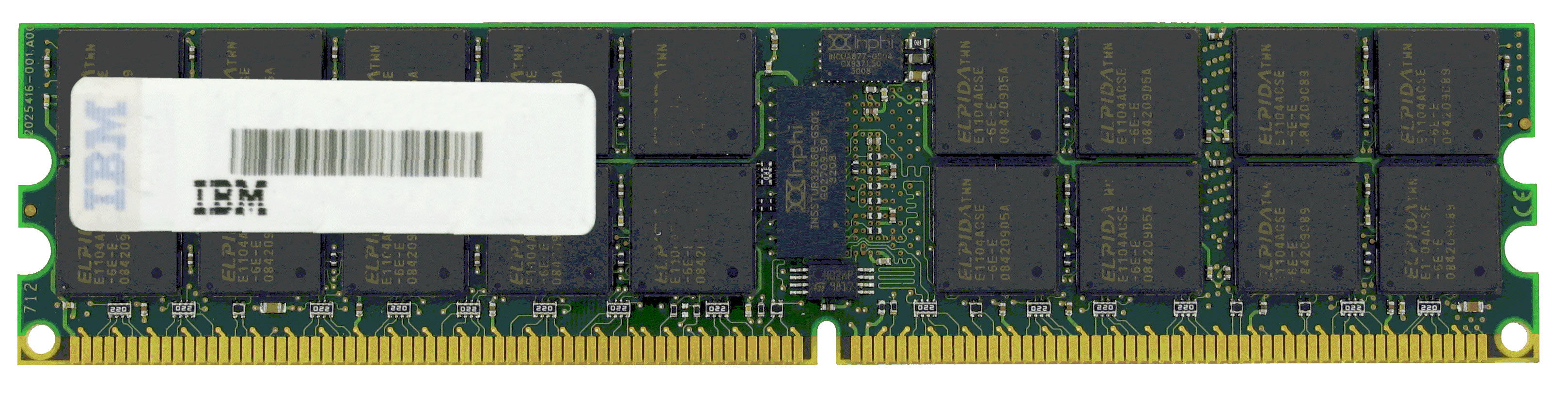 46C7427 IBM 2GB PC2-6400 DDR2-800MHz ECC Unbuffered CL6 240-Pin DIMM Dual Rank Memory Module for System x3200 M2