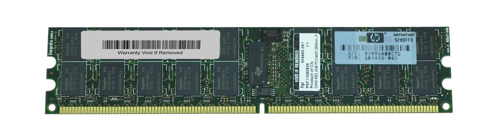 504465-061 HP 4GB PC2-6400 DDR2-800MHZ ECC Registered CL5 240-Pin DIMM Dual Rank Memory Module for ProLiant G5 / G6 Series Servers
