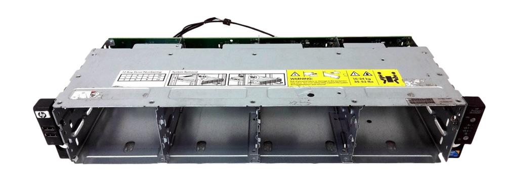 507304-001 HP 4-Bay 12-LFF SAS/SATA Hard Drive Cage Assembly with BackPlane Board for ProLiant DL180 G6 Server
