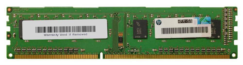 HP 8GB PC3-12800 DDR3-1600MHz non-ECC Unbuffered CL11 240-Pin DIMM Dual Rank Memory Module Mfr P/N 689375-001