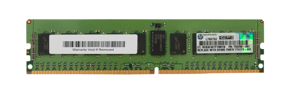 752368-081 HP 8GB PC4-17000 DDR4-2133MHz Registered ECC CL15 288-Pin DIMM 1.2V Single Rank Memory Module